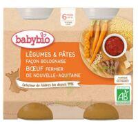 Babybio Pot Légumes Pâtes Bolognaise Boeuf à BIGANOS