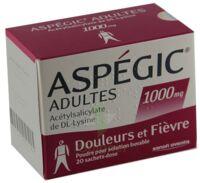 ASPEGIC ADULTES 1000 mg, poudre pour solution buvable en sachet-dose 15 à BIGANOS