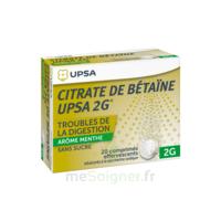Citrate de Bétaïne UPSA 2 g Comprimés effervescents sans sucre menthe édulcoré à la saccharine sodique T/20 à BIGANOS