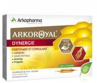 Arkoroyal Dynergie Ginseng Gelée Royale Propolis Solution Buvable 20 Ampoules/10ml à BIGANOS
