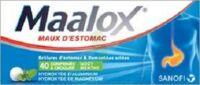 MAALOX HYDROXYDE D'ALUMINIUM/HYDROXYDE DE MAGNESIUM 400 mg/400 mg Cpr à croquer maux d'estomac Plq/40 à BIGANOS