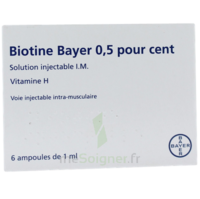 BIOTINE BAYER 0,5 POUR CENT, solution injectable I.M. à BIGANOS