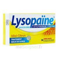 LYSOPAÏNE MAUX DE GORGE CETYLPYRIDINIUM LYSOZYME MIEL CITRON SANS SUCRE, comprimé à sucer édulcoré au sorbitol et à la saccharine à BIGANOS