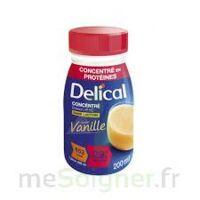 DELICAL BOISSON HP HC CONCENTREE Nutriment vanille 4Bouteilles/200ml à BIGANOS