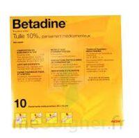 Betadine Tulle 10 % Pans Méd 10x10cm 10sach/1 à BIGANOS