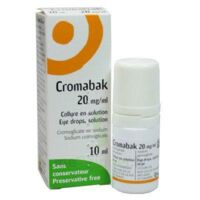 CROMABAK 20 mg/ml, collyre en solution à BIGANOS