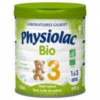 PHYSIOLAC LAIT BIO 3EME AGE 900g à BIGANOS
