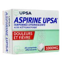 ASPIRINE UPSA TAMPONNEE EFFERVESCENTE 1000 mg, comprimé effervescent à BIGANOS