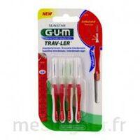 GUM TRAV - LER, 0,8 mm, manche rouge , blister 4 à BIGANOS