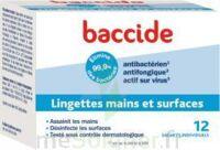 Baccide Lingette Désinfectante Mains & Surface 12 Pochettes à BIGANOS