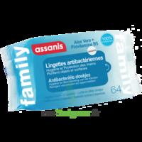 Assanis Family Lingette Antibactérien Mains Pochette/64 à BIGANOS