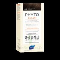 Phytocolor Kit Coloration Permanente 5.7 Châtain Clair Marron à BIGANOS