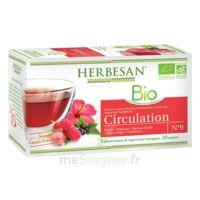 Herbesan Infusion Bio Tisane Circulation élimination 20 Sachets à BIGANOS