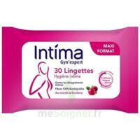Intima Gyn'Expert Lingettes Cranberry Paquet/30 à BIGANOS