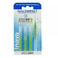 Inava Mono Compact Brossette Extra-large Vert Blister/4 à BIGANOS