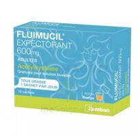 FLUIMUCIL EXPECTORANT ACETYLCYSTEINE 600 mg Glé s buv adultes 10Sach à BIGANOS
