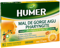 Humer Pharyngite Pastille Mal De Gorge Miel Citron B/20 à BIGANOS